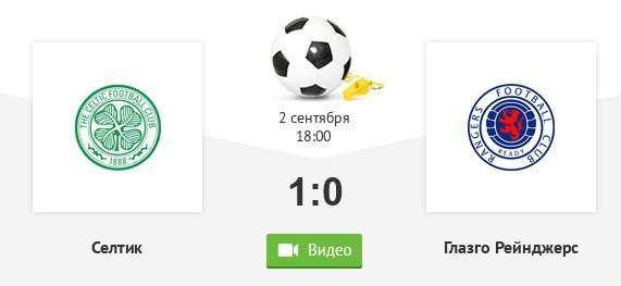 Матч Селтик - Рейнджерс